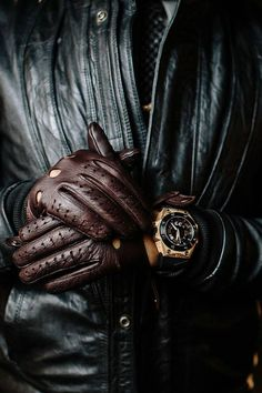 2c6d23012238 Leather on leather  Style Leather Gloves, Leather Men, Leather Driving