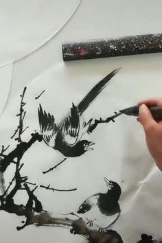 Watercolor Paintings For Sale, Sumi E Painting, Chinese Painting, Watercolor Art, Japon Illustration, Tinta China, China Art, Zen Art, Diy Canvas Art