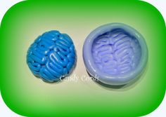 Zombie Brain Fimo Silicone Flexible Mould Mold Sculpey Cake Making Food Safe
