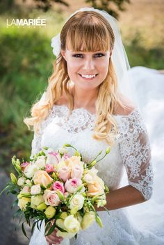 Our bride in Octavia dress and jacket by Pronovias Bride, Wedding Dresses, Jackets, Fashion, Wedding Bride, Bride Dresses, Down Jackets, Moda, Bridal Gowns