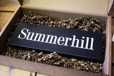 Looking for a high-quality house sign that will last for years?  Then you've come to the right place!  Find our full range bespoke Welsh slate house signs at www.valleymill.co.uk/products/signs or ask in store for more details.
