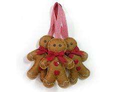 Felt Gingerbread Man Christmas Decoration