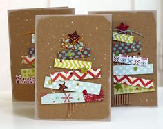 Make your own Christmas tree cards.