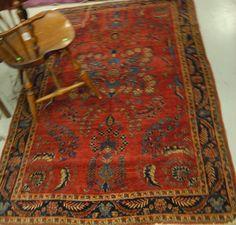 """Mohaigiran Sarouk Oriental rug. 4'3"""" x 6'5"""" - Realized Price: $2,280.00"""