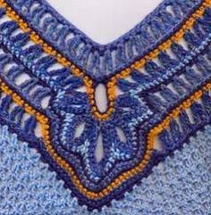 Delicadezas en crochet Gabriela: Patròn diseño de cuello