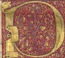Illuminated Letters, Illuminated Manuscript, Illumination Art, Letter D, Book Of Hours, Medieval Art, Needful Things, 15th Century, Byzantine