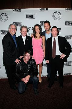 (B) Producer Will Wright, (Top L-R) producer Albie Hecht, actors William Sanderson, Cassie Howarth, Matthew Humphreys and David Cohn attend the Current TV Upfront at the Paley Center For Media on February 9, 2011 in New York City.