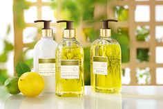 Línea de Cuidado Premium con Aceites Esenciales. Desde el Catálogo 16 podeis disfrutar de la versión con Limón y Verbena.