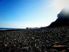 The beach on the way to Penarth