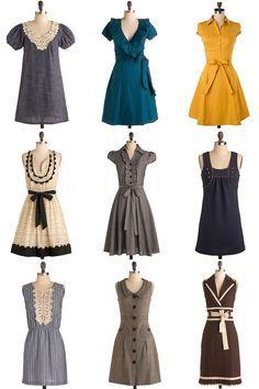 Bonitos vestidos...  Podría tomar varias ideas jeje