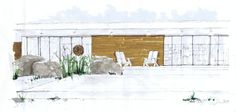 Small Modern Deck, Michelle Morelan Design and Rendering