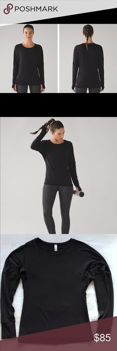 NWT Lululemon Gear Up Long Sleeve sz 2 Black NWT! Perfect condition, black, and SO soft! It has dolman sleeves with a mesh hem and is perfect to dress up or down, at the gym, or even out! Retailed for $88, now sold out! See the last photo for the item description from lululemon. I am a lulu addict trying to clear some closet space, please check my other listings for more lulu in sizes 2 and 4, I love to bundle! Feel free to ask any questions you have, bundle for an automatic discount…