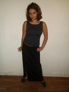 Stylish Sparkly Blouse and Skirt Combo - Blouse - small, Skirt - large, but IT WORKS! FREE SHIPPING!