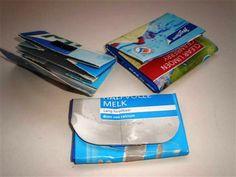 Juice- or milk carton wallet