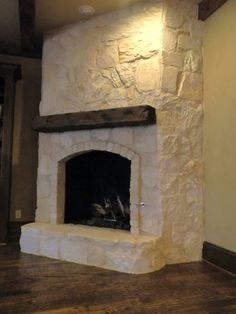 huge improvement! Makes the room feel so light and airy compared to before | DIY and Crafts | Pinterest | Painted rock fireplaces