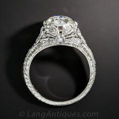 2.09 Carat Diamond Platinum Edwardian Ring GIA J/SI1 - Vintage Engagement Rings