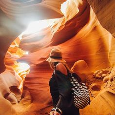 Back at #TravelTuesday with our #GoProGirl @mylifesatravelmovie and her recent excursion to #lowerantelopecanyon in Arizona! The wonders of natural space never cease to amaze, be sure to share your favorites with us by submitting to gopro.com/awards #GoPro