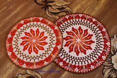 IMG_4248 (700x466, 479Kb) Crochet Cable Stitch, Crochet Granny, Crochet Doilies, Mandala Crochet, Crochet Flower Patterns, Crochet Flowers, Crochet Circles, Star Flower, Seed Beads