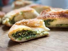 Stuffed with dill, scallions, and sorrel, these Moldovan flatbreads are perfect as a starter for a large picnic or as an afternoon snack. Saveur Recipes, Dill Recipes, Cooking Recipes, Easy Recipes, Weekly Recipes, Curry Recipes, Vegetable Recipes, Healthy Recipes, Sorrel Recipe