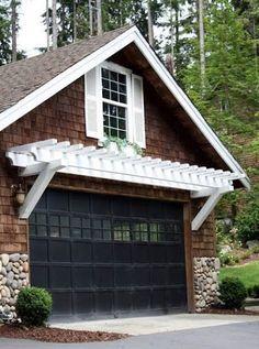arbor over the garage door