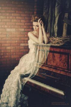 # beautiful # girl # photography # piano # victorian # woman