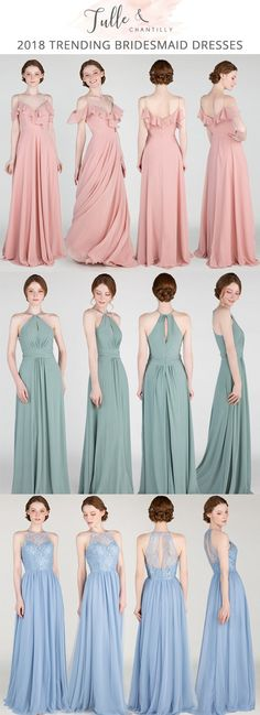 2018 trending bridesmaid dresses #bridalparty #bridesmaiddresses