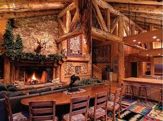 log cabin- could you imagine Christmas here!