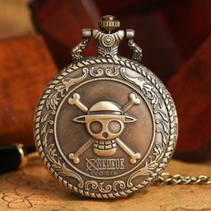 One Piece Quartz Pocket Watch  #anime #stuff #comic #merchandise #animeboy #animeart #animelover