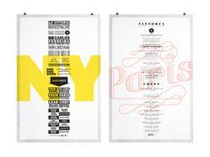 Visual identity poster for the gastronomic gala La Vittoria, NY, 2011 Web Design, Resume Design, Layout Design, Branding Design, Logo Design, Branding Agency, Cv Inspiration, Typography Inspiration, Graphic Design Inspiration