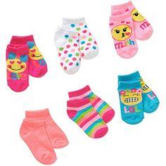 Toddler Girls Multi Color Socks 10 Pair Garanimals Size 3-5 years Pre-school