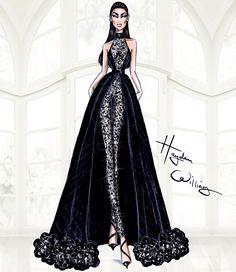 Hayden Williams Fashion Illustrations | Hayden Williams Haute Couture SS15: Look 5