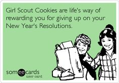 Girl Scout Cookies = Rewards :)