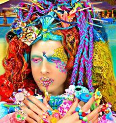 Style: Beauty is Art & Karma Eye art inspired by @tal_peleg  Base for lips by @inkedbarbiecosmetics in Kandy Kid #ryanjasterina #makeup #wig #lacefrontwig #customwigs #rupaulsdragrace #rpdr #dragqueen #cosplay #bighairdontcare #waves #vintage #retro #Hermes #fashion #art #behindthechair #modernsalon #hairbrained #アステライナ