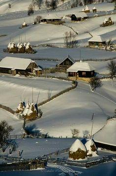Sureanu Mountains in Hunedoara county in winter