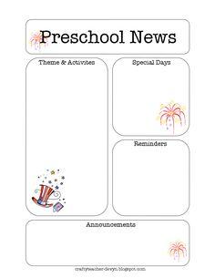 Newsletter Template - free | Creative Classroom | Pinterest ...