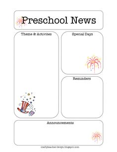 The Parenting the Preschooler newsletter is designed for parents and caregivers of preschool age children. Description from pinterest.com. I searched for this on bing.com/images