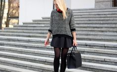 sweter ze spódnicą, spódnica i sweter, obcas, stylizacja, torba reserved, Essay Examples, Outfits, Style, Fashion, Swag, Moda, Suits, Fashion Styles, Fashion Illustrations