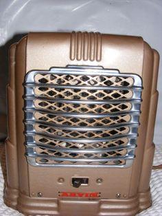Vintage Retro Art Deco Arvin Electric Space Portable Fan Heater Model 213