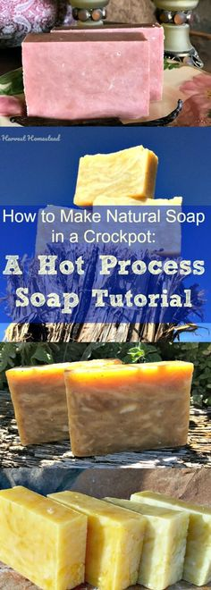 Have you ever wanted to try making your own natural soap? Or, maybe you make soap, but you've never tried the hot process soap making method? Find out how to make beautiful hot process soap in a crock pot! Use it right way, and have lovely natural soaps to enjoy. Here is a hot process soap recipe and a picture tutorial to get you going!