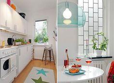 Scandinavian inspiration for a small apartment! http://freshome.com/2009/07/06/beautiful-and-practical-tiny-apartment-interior-design/