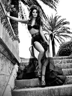 Lingerie fashion editorial with Cheryl Cole