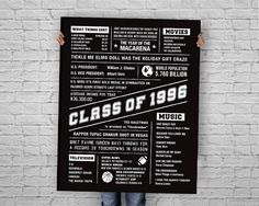 Hey, I found this really awesome Etsy listing at https://www.etsy.com/listing/267979313/class-of-1996-20-year-reunion-poster-20
