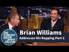 ▶ Brian Williams Addresses His Rapping -- Part 2 - YouTube - Funny!