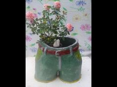 como fazer vaso de cimento, formato de shorts mega fácil - YouTube
