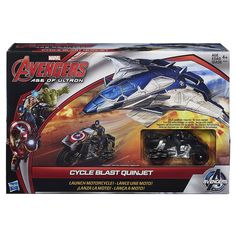 Amazon | アベンジャーズ / エイジ オブ ウルトロン 2.5インチ デラックスビークルセット サイクルブラスト クインジェット / AVENGERS:AGE OF ULTRON 2015 2.5inch DX Vehicle Set CYCLE BLAST QUINJET | 飛行機・戦闘機・おもちゃ 通販