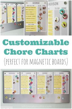 FREE Printable Chore Chart (Customizable Too!) Customizable Chore Charts Perfect for Magnetic Boards Free Printable Chore Charts, Chore Chart Template, Free Printables, Family Chore Charts, Chore Chart Kids, Magnetic Chore Charts, Kids Schedule Chart, Adult Chore Chart, Chore Magnets