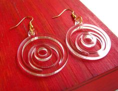 Off Center Circle Earrings Laser Cut by CathysUniqueCreation, $6.00