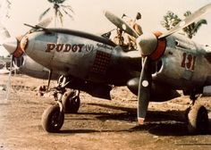 P-38 Lightning of the 475th Fighter Group, flown by Major Thomas B. McGuire, Jr during pacific war.