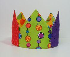 Rainbow Birthday or DressUp Crown  Adjustable by AuroraSpitfire, $30.00