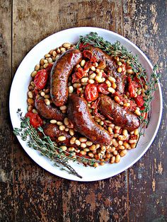 Sausage & White Bean Cassoulet